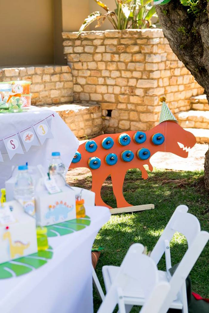 T-Rex Dinosaur Doughnut Board from a Dinosaur Birthday Party on Kara's Party Ideas | KarasPartyIdeas.com (37)