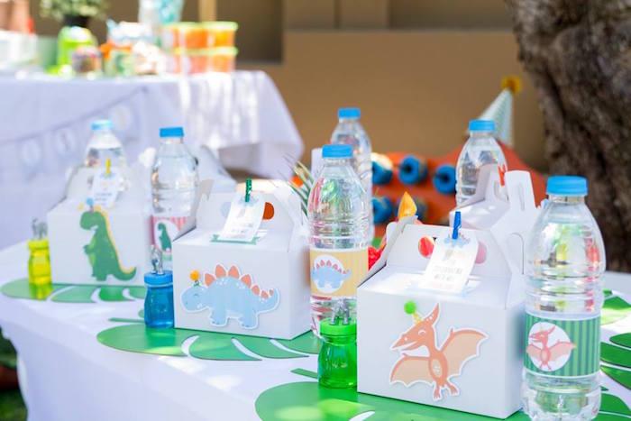 Dinosaur Kid Table + Table Setting from a Dinosaur Birthday Party on Kara's Party Ideas | KarasPartyIdeas.com (34)