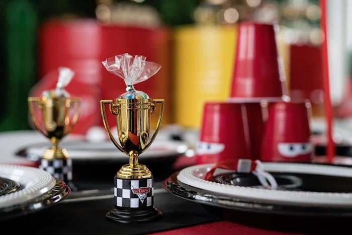 Trophy Candy Sack Favor from a Disney Pixar Cars Birthday Party on Kara's Party Ideas | KarasPartyIdeas.com (12)