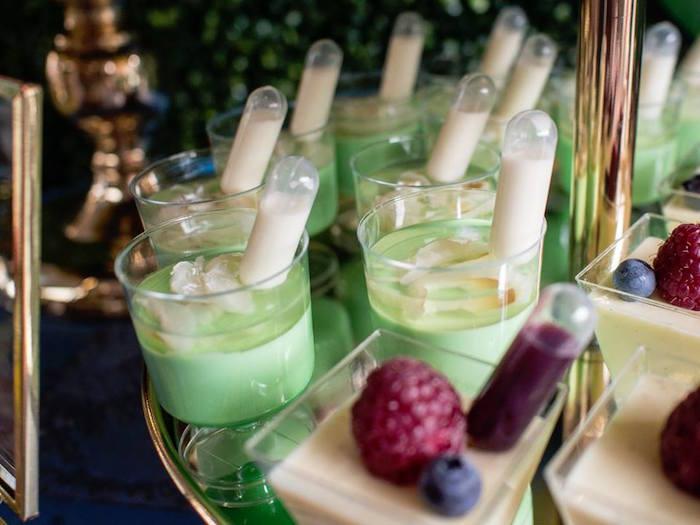 Green Dessert Cups from a Disney Pixar Cars Birthday Party on Kara's Party Ideas | KarasPartyIdeas.com (28)