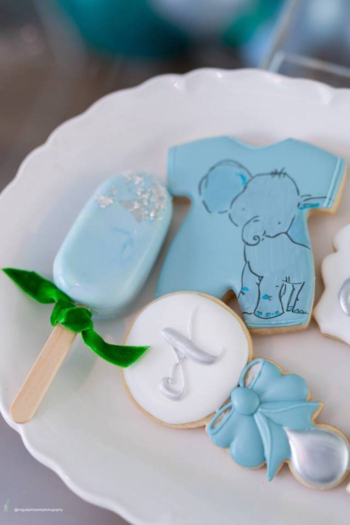 Elephant Themed Cookies + Sweets from an Elephant Baby Shower on Kara's Party Ideas | KarasPartyIdeas.com (17)
