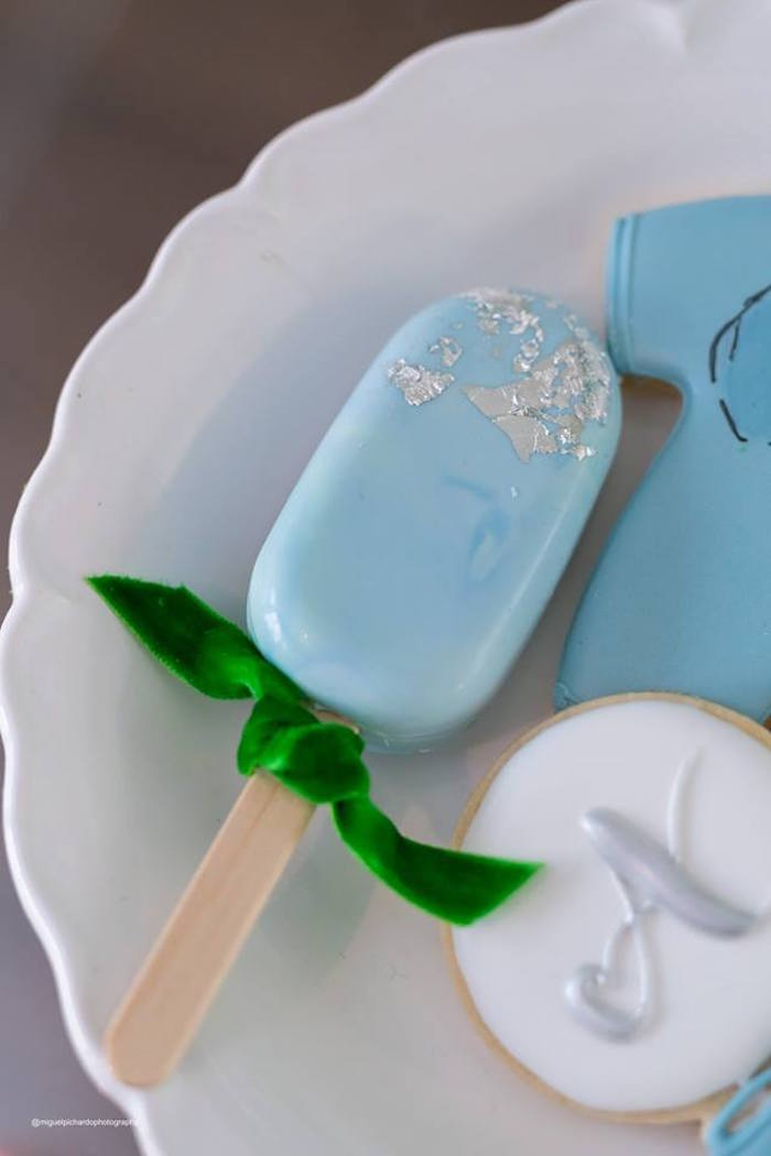 Blue Cake Popsicle from an Elephant Baby Shower on Kara's Party Ideas | KarasPartyIdeas.com (16)