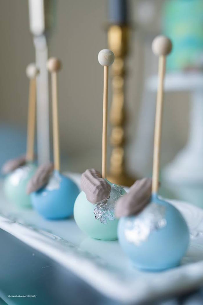 Peanut Cake Pops from an Elephant Baby Shower on Kara's Party Ideas | KarasPartyIdeas.com (13)