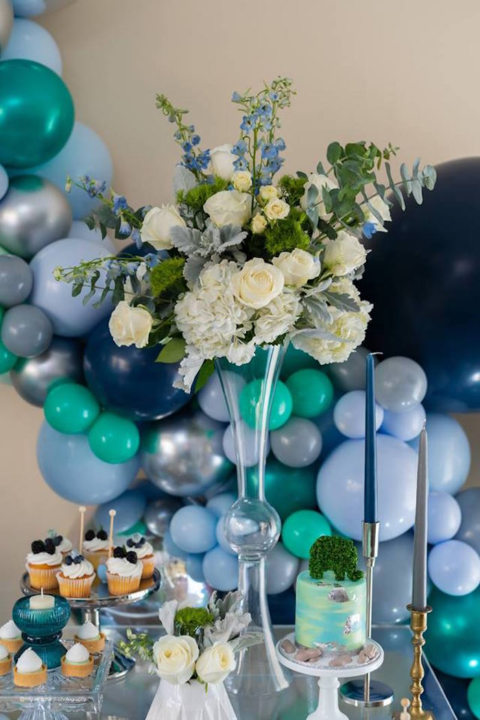 Balloons & Blooms from an Elephant Baby Shower on Kara's Party Ideas | KarasPartyIdeas.com (12)