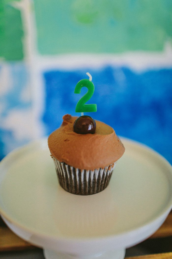 Cupcake from an Eric Carle Reading Inspired Birthday Party on Kara's Party Ideas | KarasPartyIdeas.com (7)
