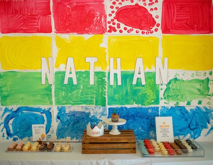 Rainbow Block Dessert Table from an Eric Carle Reading Inspired Birthday Party on Kara's Party Ideas | KarasPartyIdeas.com (6)