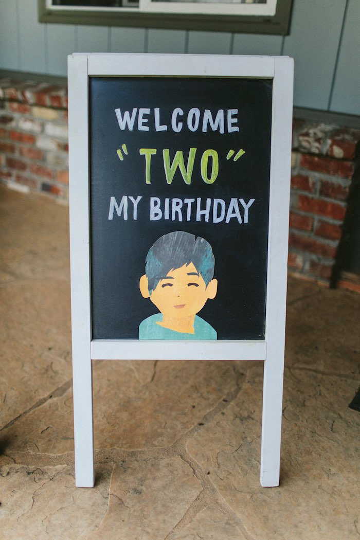 Chalkboard Welcome Sign from an Eric Carle Reading Inspired Birthday Party on Kara's Party Ideas | KarasPartyIdeas.com (17)