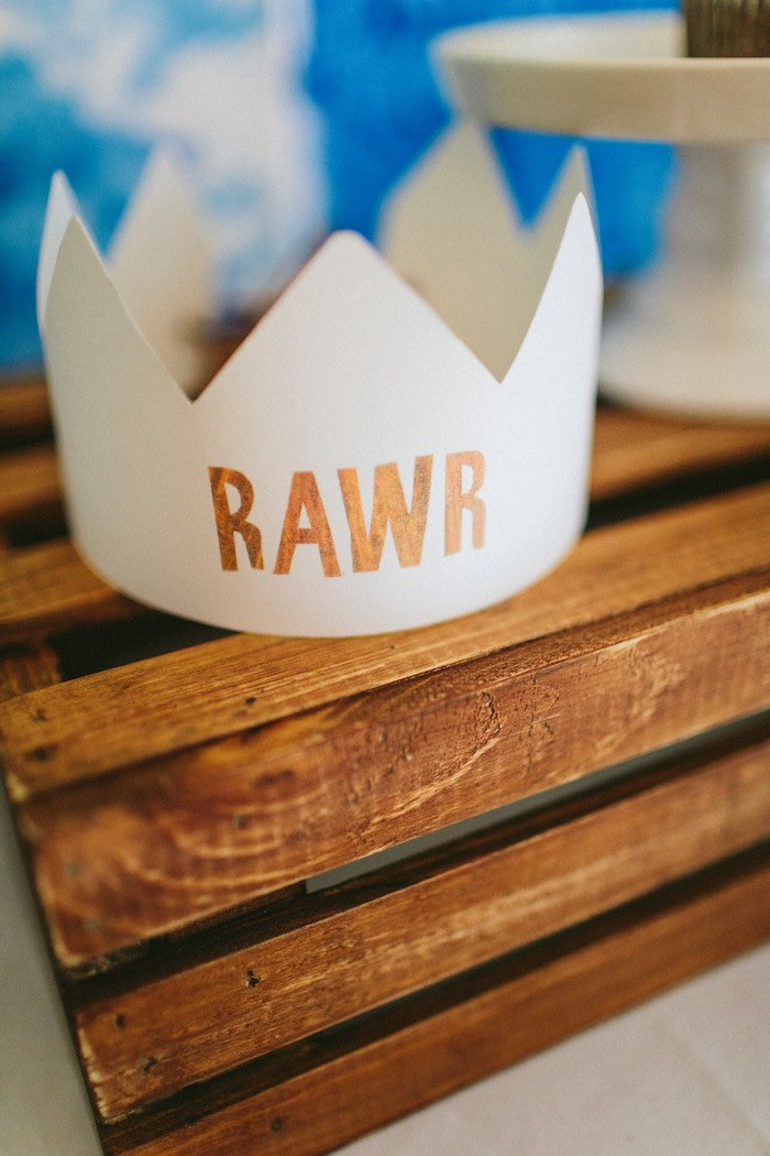 RAWR Crown from an Eric Carle Reading Inspired Birthday Party on Kara's Party Ideas | KarasPartyIdeas.com (15)
