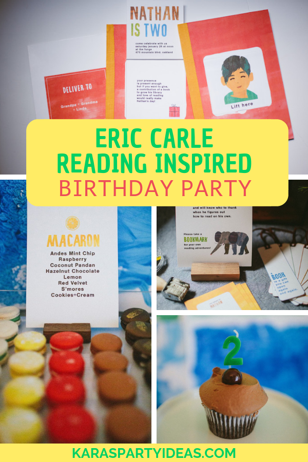 Eric Carle Reading Inspired Birthday Party via Kara's Party Ideas - KarasPartyIdeas.com