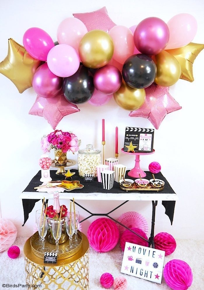 Hollywood Premiere Themed Dessert Table from a Glam Movie Night Party on Kara's Party Ideas | KarasPartyIdeas.com (14)