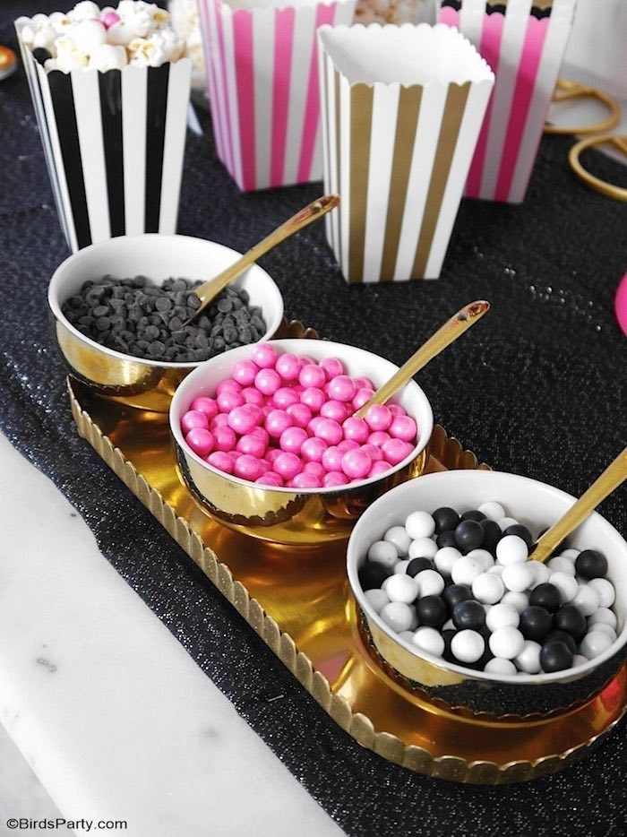 Candy Toppings from a Glam Movie Night Party on Kara's Party Ideas | KarasPartyIdeas.com (23)