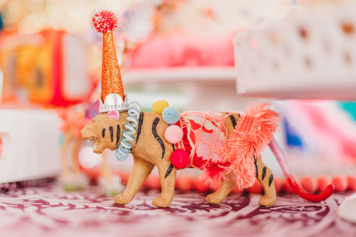 Circus Tiger from a Greatest Showman Inspired Circus Party on Kara's Party Ideas | KarasPartyIdeas.com (18)