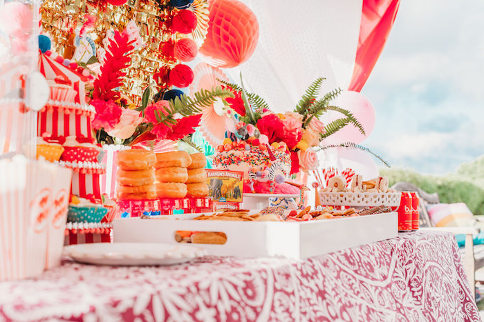 Circus Themed Sweet Table from a Greatest Showman Inspired Circus Party on Kara's Party Ideas | KarasPartyIdeas.com (12)