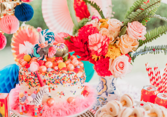 Circus Cake from a Greatest Showman Inspired Circus Party on Kara's Party Ideas | KarasPartyIdeas.com (10)