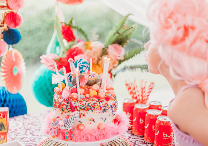 Circus Cake from a Greatest Showman Inspired Circus Party on Kara's Party Ideas | KarasPartyIdeas.com (4)