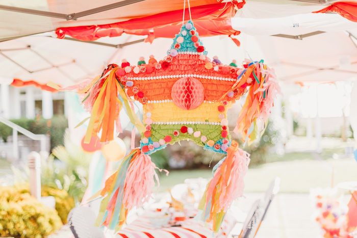 Star Tassel Pinata from a Greatest Showman Inspired Circus Party on Kara's Party Ideas | KarasPartyIdeas.com (30)