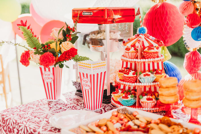 Circus Party Table from a Greatest Showman Inspired Circus Party on Kara's Party Ideas | KarasPartyIdeas.com (29)
