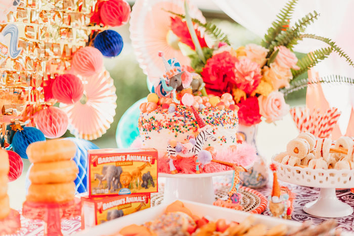 Circus Themed Cake Table from a Greatest Showman Inspired Circus Party on Kara's Party Ideas | KarasPartyIdeas.com (28)