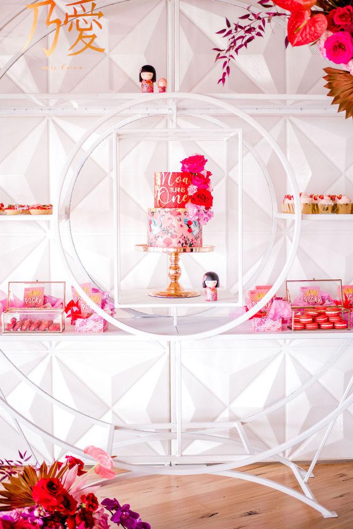 Modern Japanese Dessert Spread from a Japanese Themed Birthday Party on Kara's Party Ideas | KarasPartyIdeas.com (30)