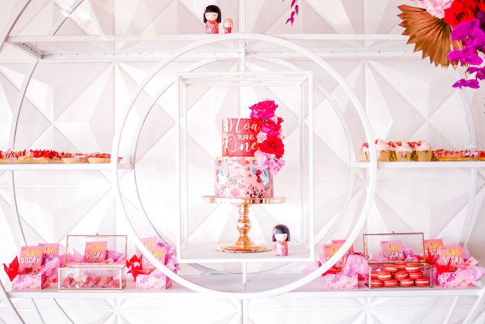 Modern Japanese Dessert Spread from a Japanese Themed Birthday Party on Kara's Party Ideas | KarasPartyIdeas.com (29)