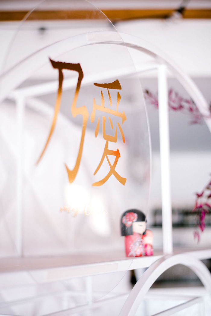 Japanese Scripted Acrylic Sign from a Japanese Themed Birthday Party on Kara's Party Ideas | KarasPartyIdeas.com (26)