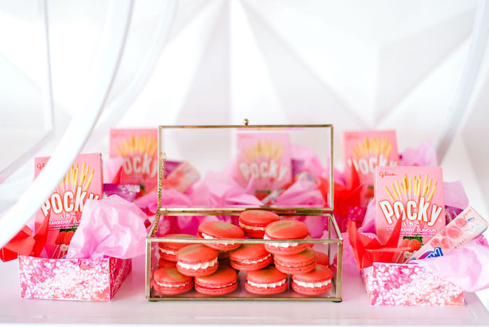 Macarons and Candy Favor Boxes from a Japanese Themed Birthday Party on Kara's Party Ideas | KarasPartyIdeas.com (24)