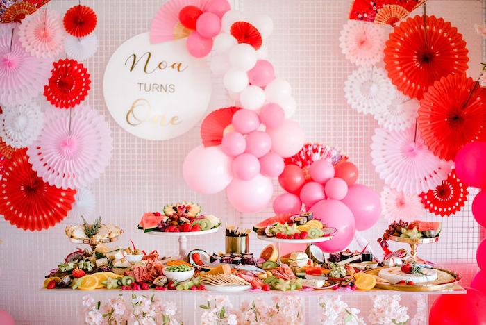 Food Table from a Japanese Themed Birthday Party on Kara's Party Ideas   KarasPartyIdeas.com (22)