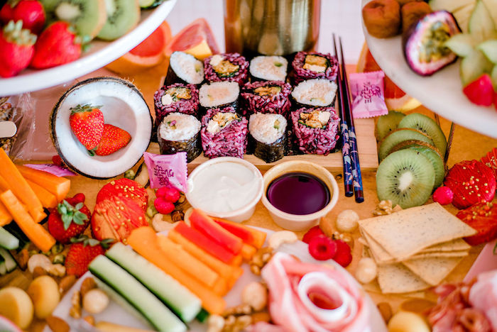 Food Table from a Japanese Themed Birthday Party on Kara's Party Ideas | KarasPartyIdeas.com (20)