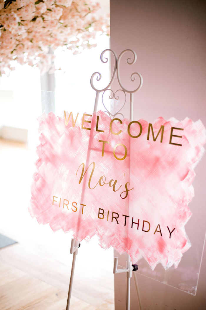 Acrylic Welcome Sign from a Japanese Themed Birthday Party on Kara's Party Ideas | KarasPartyIdeas.com (17)