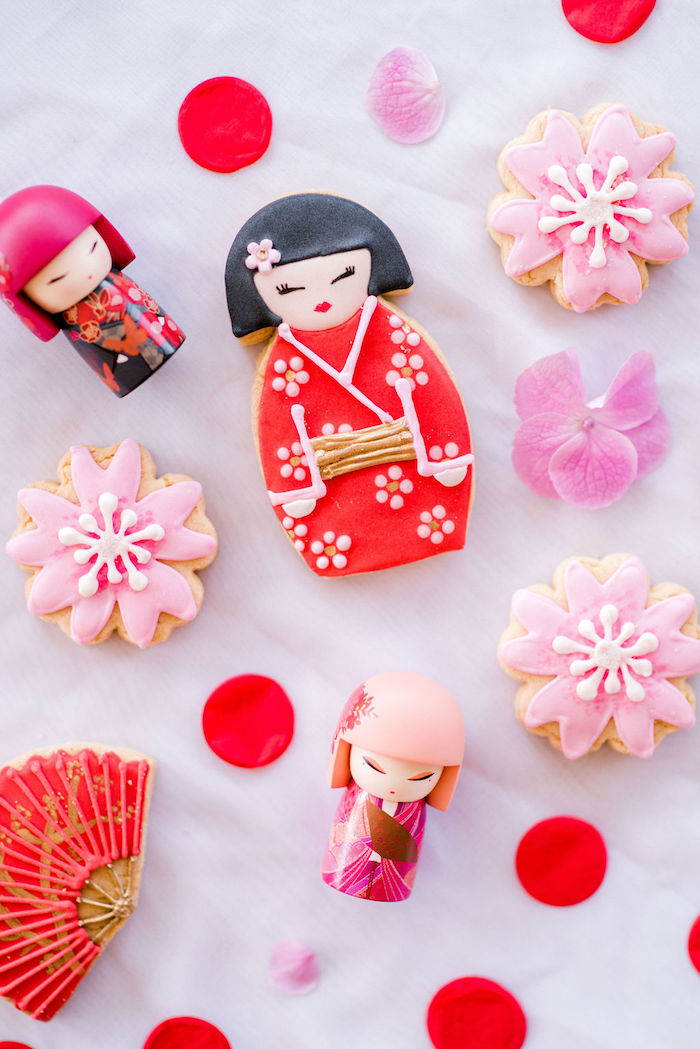 Japanese Themed Sugar Cookies from a Japanese Themed Birthday Party on Kara's Party Ideas | KarasPartyIdeas.com (41)