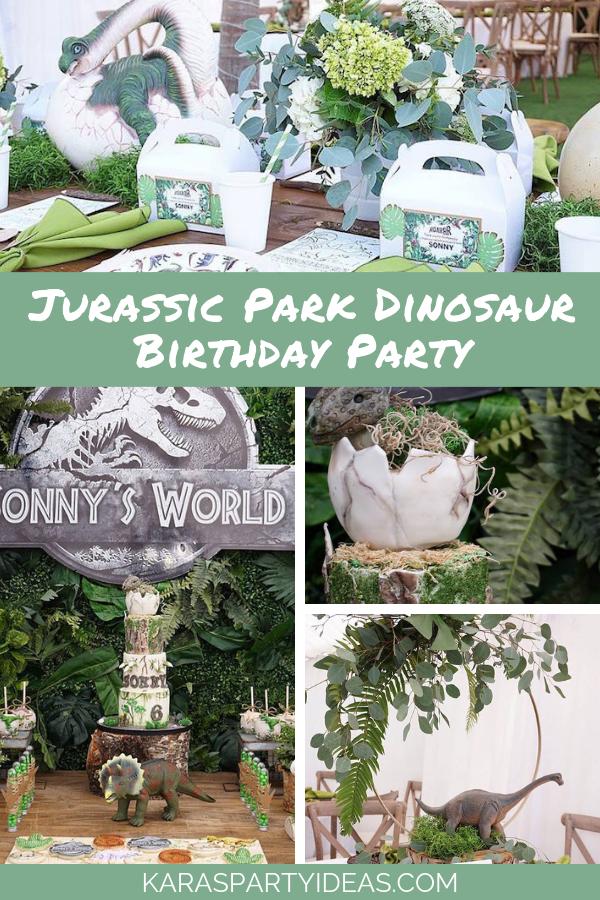 Jurassic Park Dinosaur Party via Kara's Party Ideas - KarasPartyIdeas.com