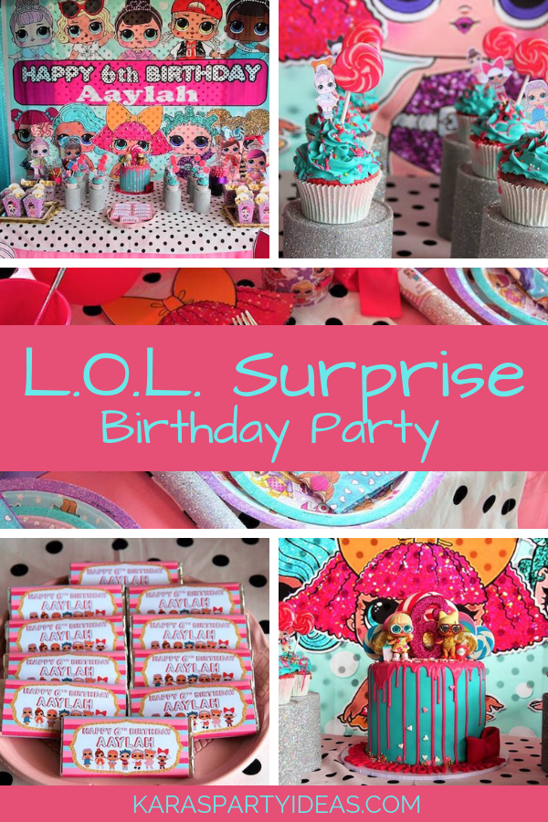 L.O.L Surprise Birthday Party via Kara's Party Ideas - KarasPartyIdeas.com