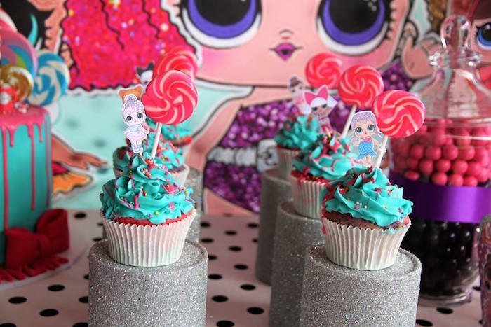 L.O.L. Surprise Doll Cupcakes from an L.O.L. Surprise Birthday Party on Kara's Party Ideas | KarasPartyIdeas.com (9)