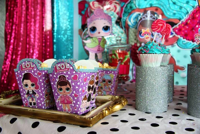 L.O.L. Surprise Doll Popcorn Boxes from an L.O.L. Surprise Birthday Party on Kara's Party Ideas | KarasPartyIdeas.com (22)