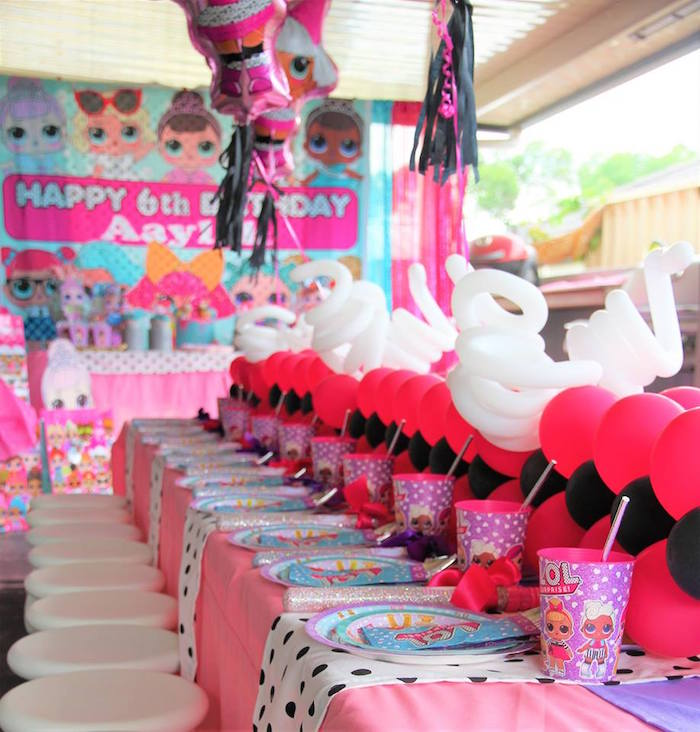 L.O.L. Surprise Themed Kid Table from an L.O.L. Surprise Birthday Party on Kara's Party Ideas | KarasPartyIdeas.com (20)