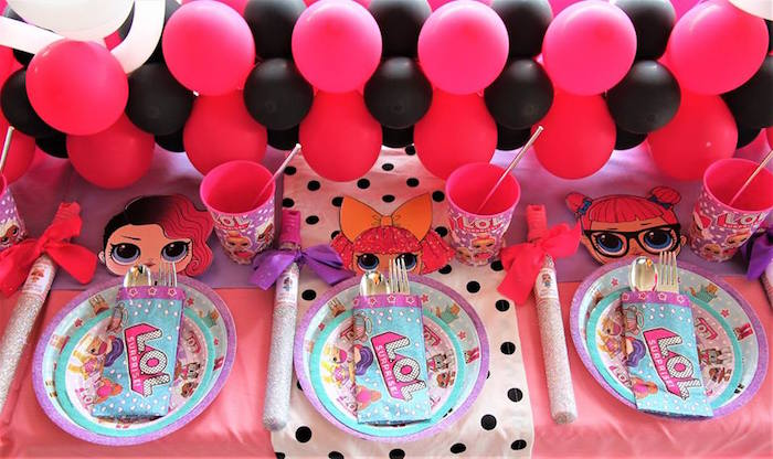 L.O.L. Surprise Kid Table + Place Settings from an L.O.L. Surprise Birthday Party on Kara's Party Ideas | KarasPartyIdeas.com (19)