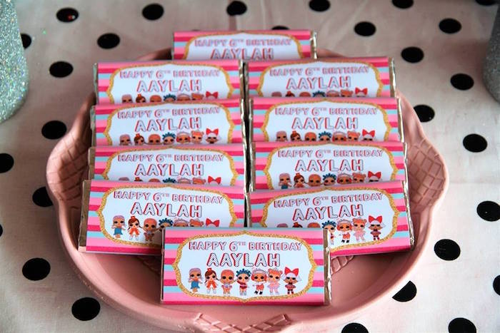 Custom LOL Surprise Doll Candy Bar Labels from an L.O.L. Surprise Birthday Party on Kara's Party Ideas | KarasPartyIdeas.com (18)