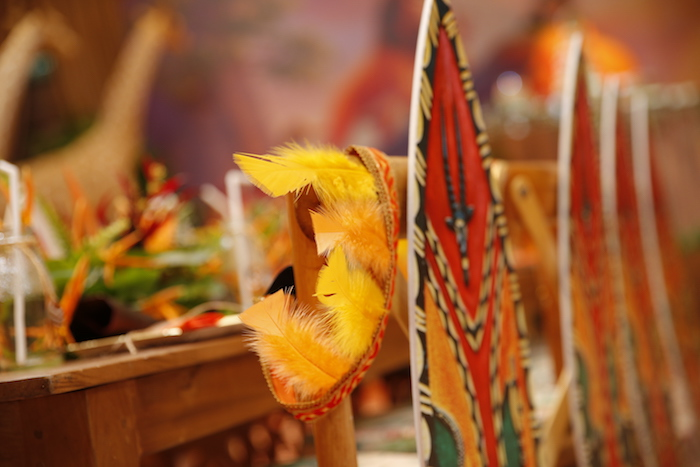 """Feather Crown from a Lion King """"Circle of Life"""" Party on Kara's Party Ideas 