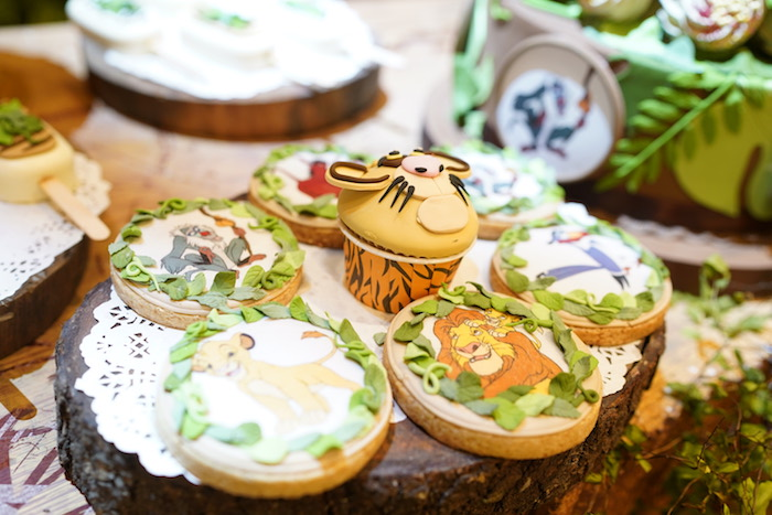 "Lion King Character Cookies from a Lion King ""Circle of Life"" Party on Kara's Party Ideas 