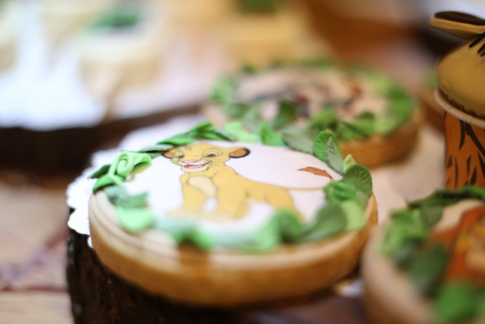 """Simba Cookie from a Lion King """"Circle of Life"""" Party on Kara's Party Ideas 