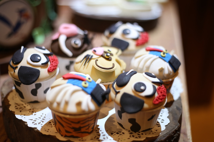 "Safari Animal Cupcakes from a Lion King ""Circle of Life"" Party on Kara's Party Ideas 