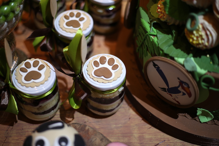 "Lion Paw Dessert Jars from a Lion King ""Circle of Life"" Party on Kara's Party Ideas 