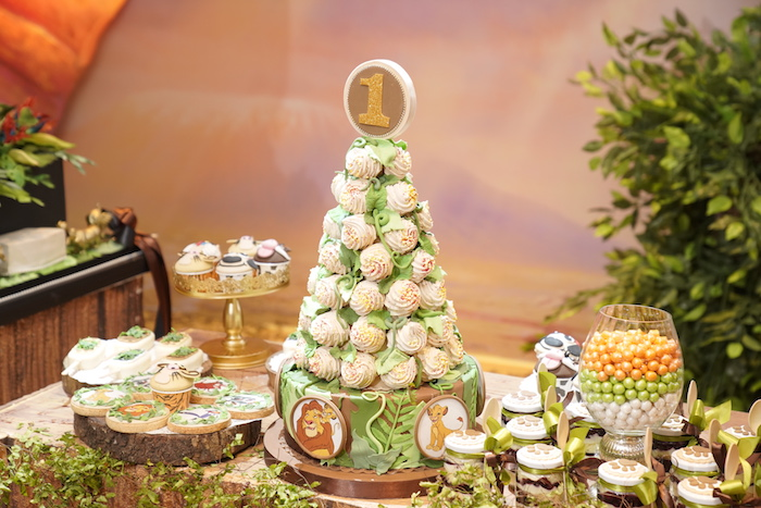 "Jungle Sweet Table from a Lion King ""Circle of Life"" Party on Kara's Party Ideas 