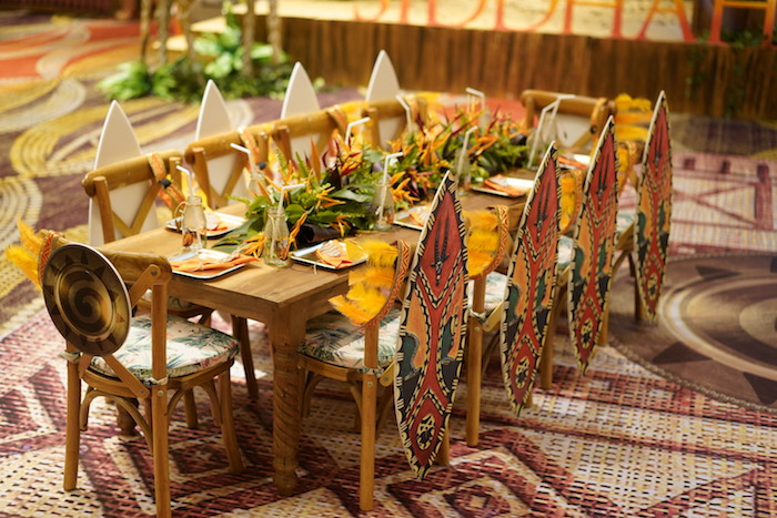 "Jungle Party Table from a Lion King ""Circle of Life"" Party on Kara's Party Ideas 