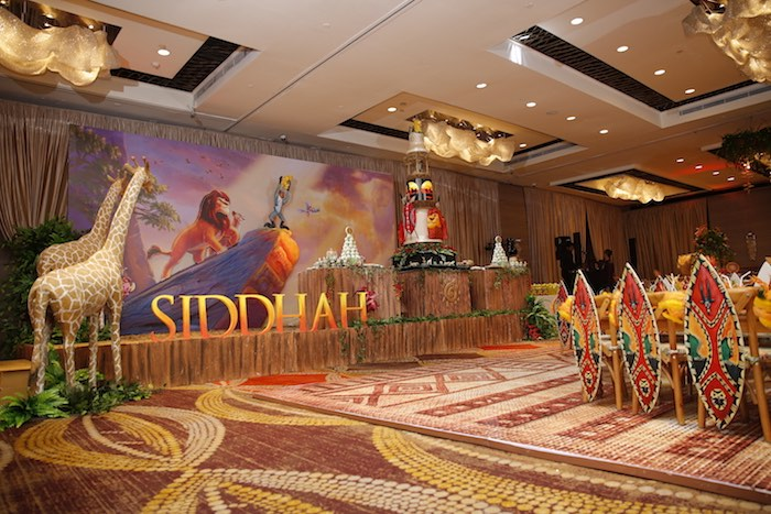 "Pride Rock Dessert Spread + Stage from a Lion King ""Circle of Life"" Party on Kara's Party Ideas 