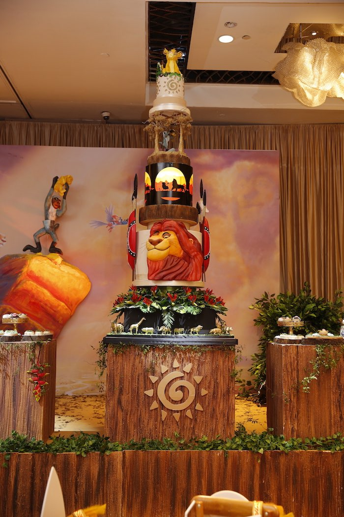 "Tribal Cake Table from a Lion King ""Circle of Life"" Party on Kara's Party Ideas 