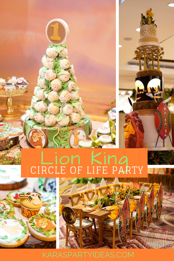 Lion King Circle Of Life Party via Kara's Party Ideas - KarasPartyIdeas.com