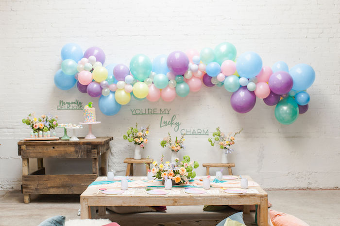 Kid + Guest Table from a Lucky Charms St. Patrick's Day Party on Kara's Party Ideas | KarasPartyIdeas.com (8)