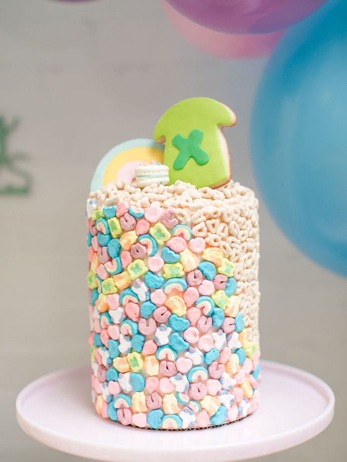 Lucky Charms Cake from a Lucky Charms St. Patrick's Day Party on Kara's Party Ideas | KarasPartyIdeas.com (30)