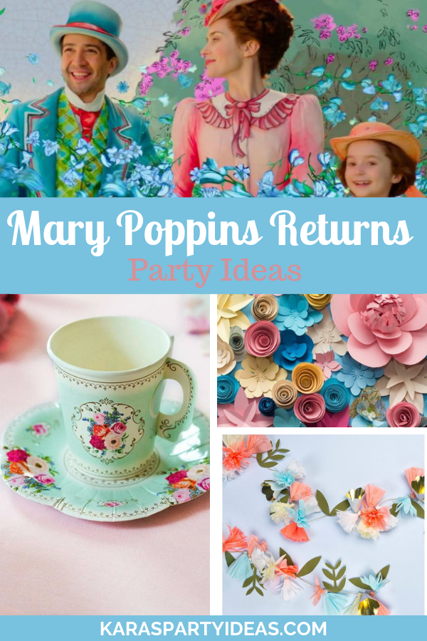 Mary Poppins Returns Party Ideas via Kara's Party Ideas - KarasPartyIdeas.com